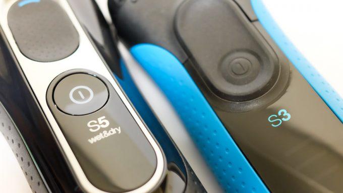 BRAUNシリーズ5とシリーズ3の電源ボタン