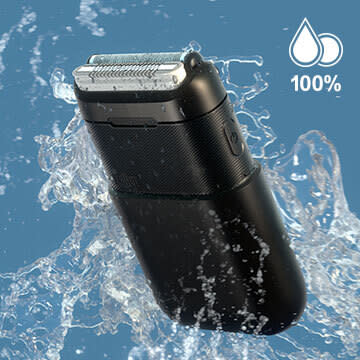 防水設計で丸洗い可能なモバイルシェーバーBRAUN mini