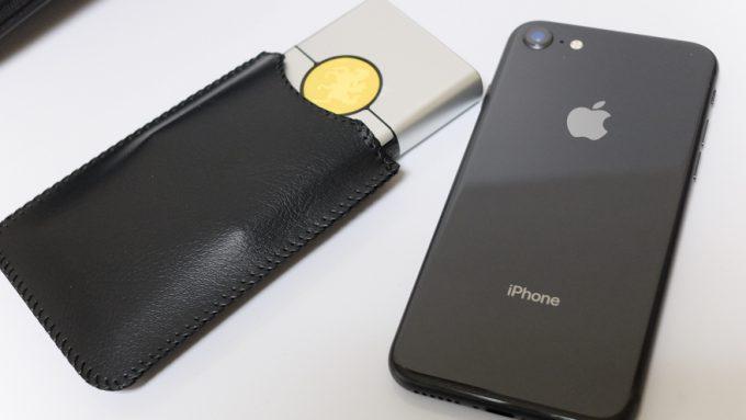 カードシェーバーとiPhoneのサイズ比較