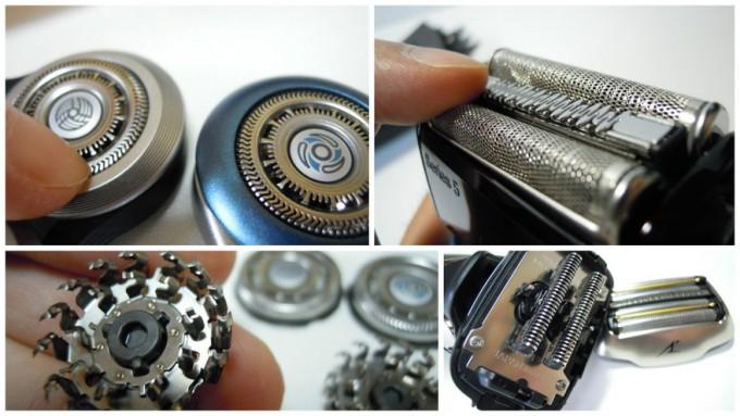電気シェーバーの替刃交換