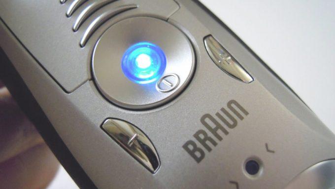BRAUNシリーズ7のボタン