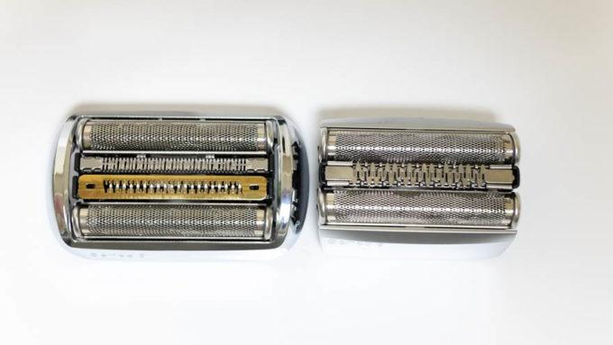 BRAUNシリーズ9とシリーズ8の刃を比較
