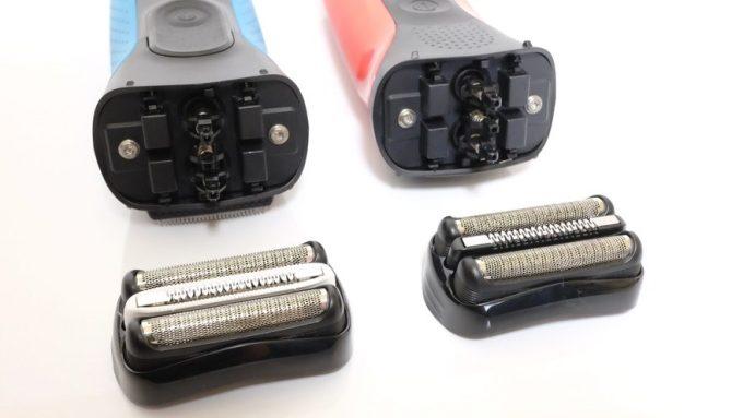 BRAUNシェーバーシリーズ3、従来モデルとの搭載刃の比較