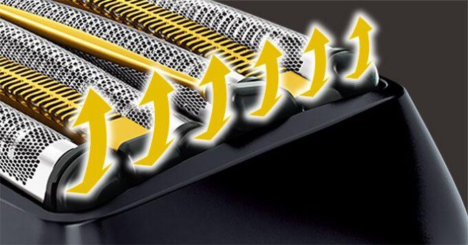 ラムダッシュ6枚刃の「密着フロート刃機構」