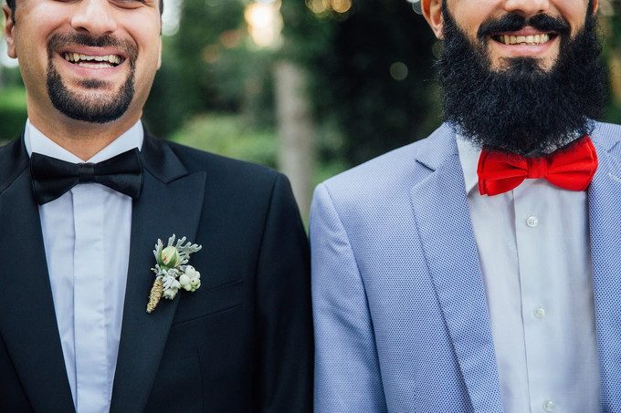 髭を生やした男性