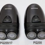PHILIPSポータブルシェーバー「PQ209/17」と「PQ208」の違いを比較検証