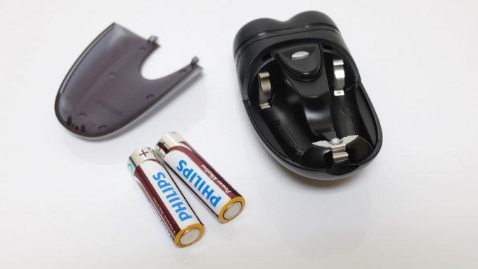 乾電池式の小型シェーバー「PQ209/17」